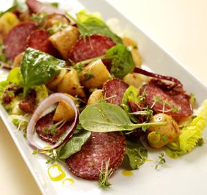 Potatissallad med salami