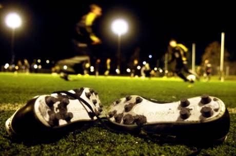 Fotbollsmatch på Gotland