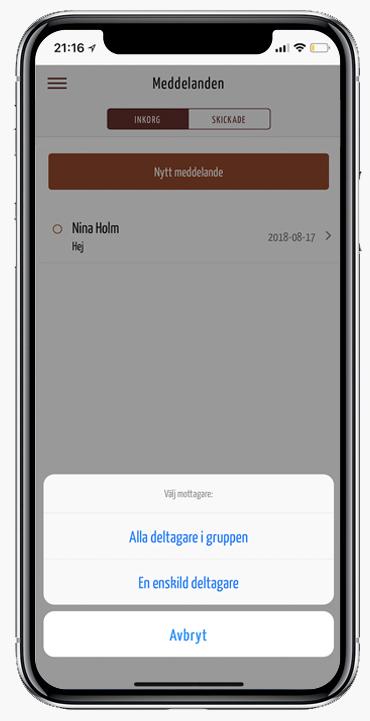 Meddelande i appen