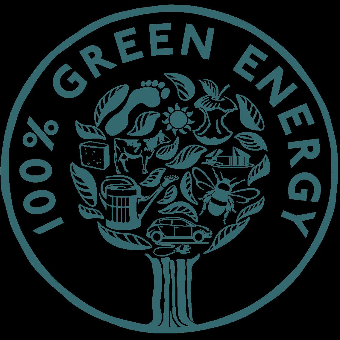 100% förnybar energi