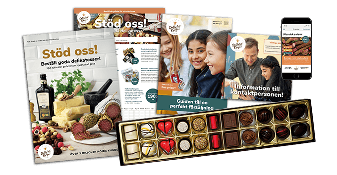 Säljmaterial med choklad