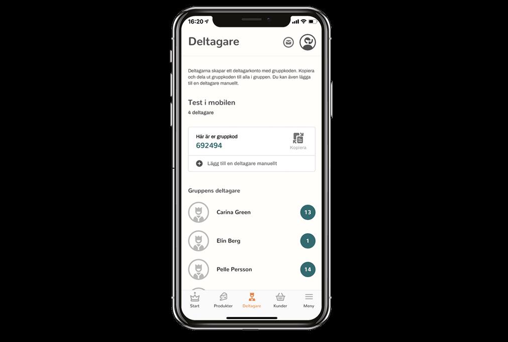 Deltagare app