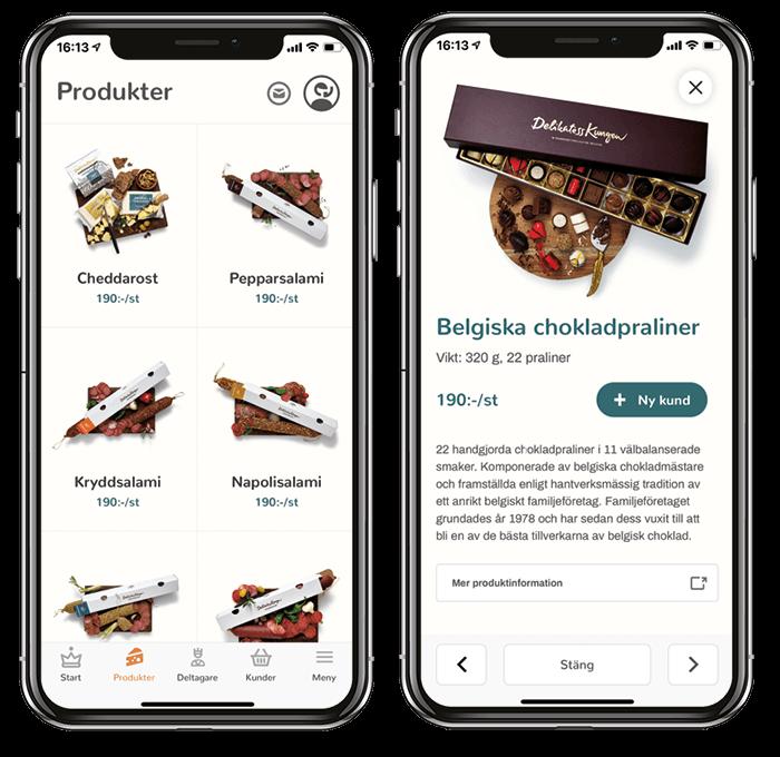 Produkter i appen