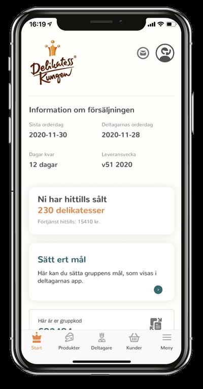 startsida kontaktperson app